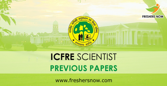 ICFRE Scientist Previous Papers