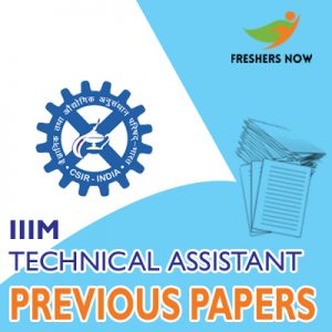 IIIM Technical Assistant Previous Papers