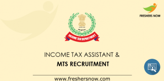 Income Tax Assistant Recruitment