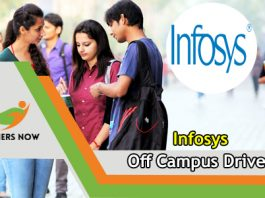 Infosys Off Campus 2019