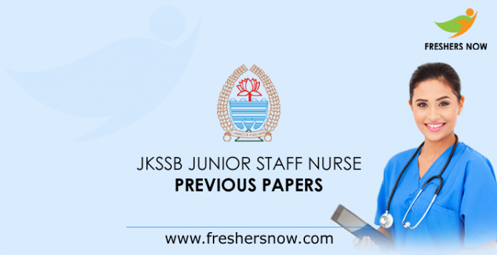 JKSSB Junior Staff Nurse Previous Year Question Papers PDF