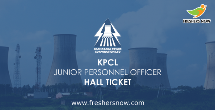 KPCL Junior Personnel Officer Hall Ticket 2019