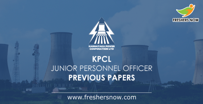 KPCL Junior Personnel Officer Previous Papers