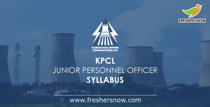 KPCL Junior Personnel Officer Syllabus 2019