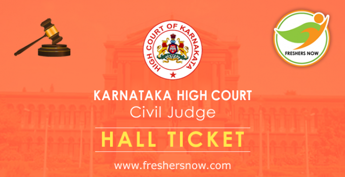Karnataka High Court Civil Judge Hall Ticket