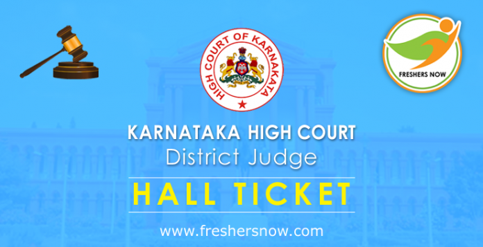 Karnataka High Court District Judge Hall Ticket 2019