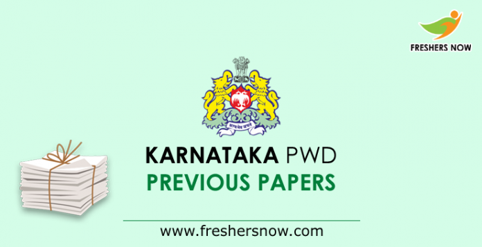 Karnataka PWD AE, JE Previous Question Papers PDF Download