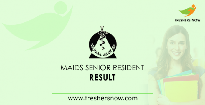 MAIDS Senior Resident Result 2019