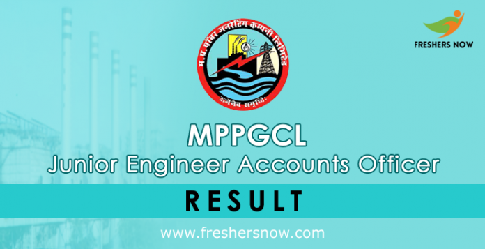 MPPGCL Junior Engineer Accounts Officer Result 2019