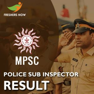 MPSC Police Sub Inspector Result 2019