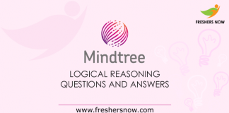 Mindtree Logical Reasoning Questions and Answers
