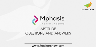 Mphasis Aptitude Questions and Answers