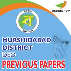 Murshidabad District DEO Previous Papers