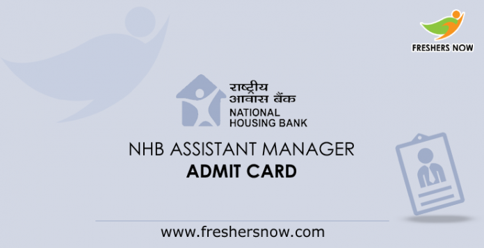 NHB Assistant Manager Admit Card 2019