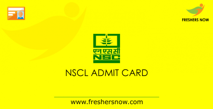 NSCL admission card