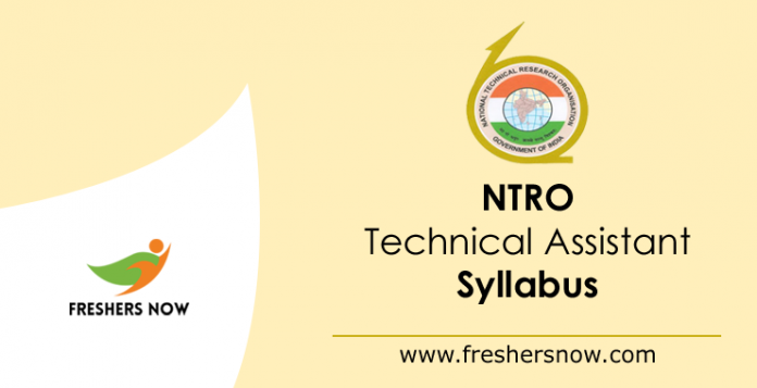 NTRO Technical Assistant Syllabus 2019