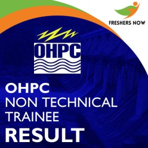 OHPC Non-Technical Trainee Result 2019