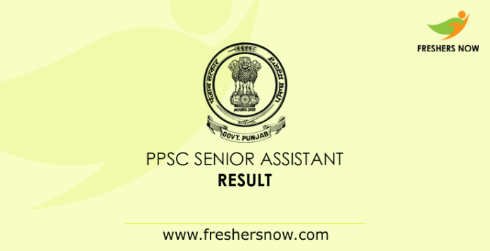 PPSC Senior Assistant Result 2019