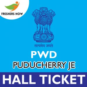 PWD Puducherry JE Hall Ticket 2019