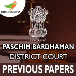 Paschim Bardhaman District Court Previous Papers