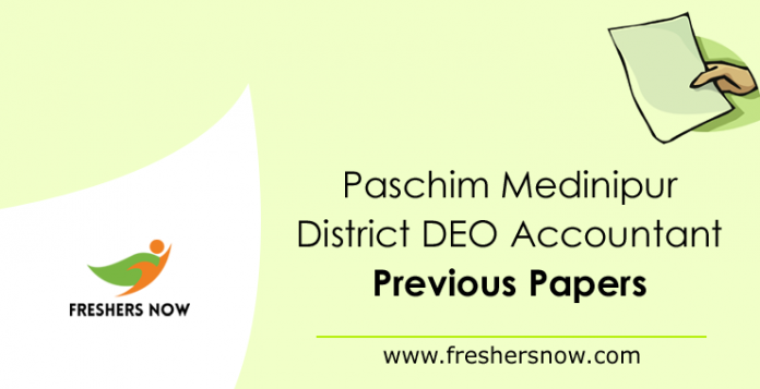 Paschim Medinipur District DEO Accountant Previous Papers