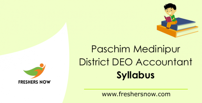 Paschim Medinipur District DEO Accountant Syllabus 2019