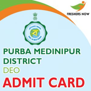 Purba Medinipur District DEO Admit Card 2019