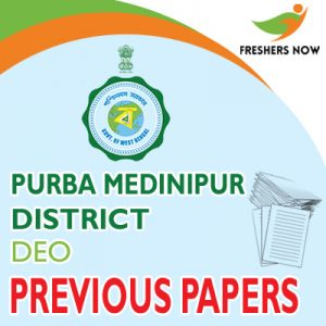 Purba Medinipur District DEO Previous Papers