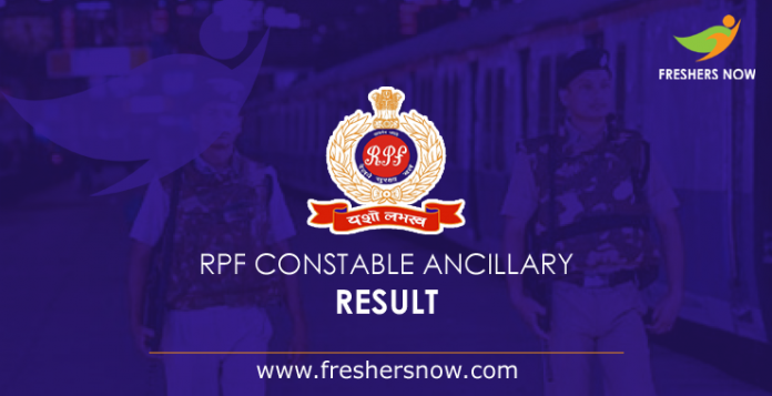RPF Constable Ancillary Result 2019