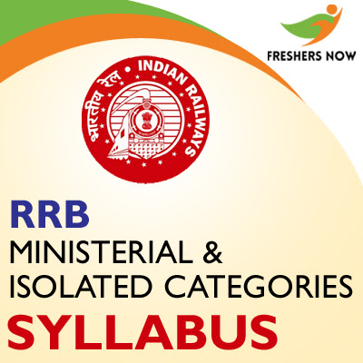 RRB Ministerial And Isolated Category Syllabus 2019