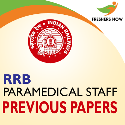 RRB Paramedical Staff Previous Papers