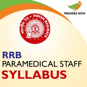 RRB Paramedical Staff Syllabus 2019