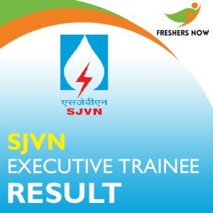 SJVN Executive Trainee Result 2019