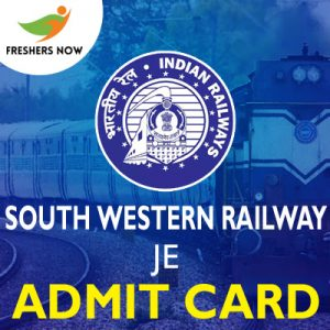 South Western Railway JE Admit Card 2019