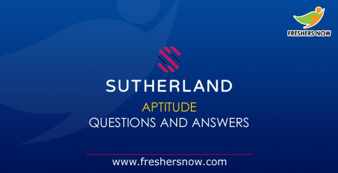 Sutherland Aptitude Questions and Answers