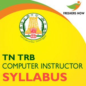 TN TRB Computer Instructor Syllabus 2019