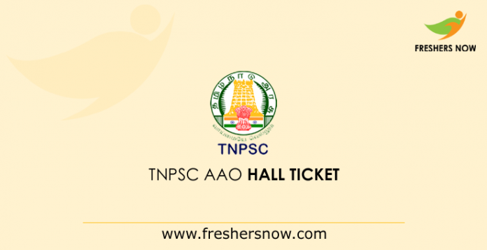 TNPSC AAO Hall Ticket 2019\