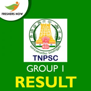 TNPSC Group 1 Result 2019