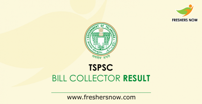 TSPSC Bill Collector Result 2019