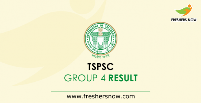 TSPSC Group 4 Result 2019