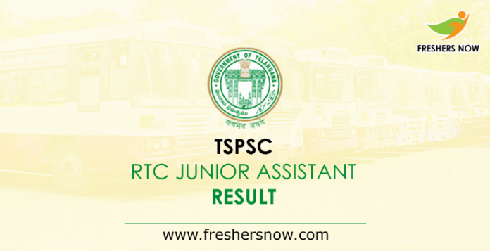 TSPSC RTC Junior Assistant Result