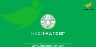TSRJC Hall Ticket 2019