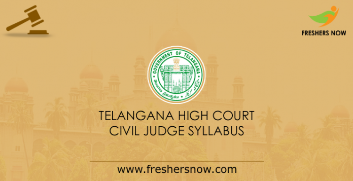 Telangana High Court Civil Judge Syllabus 2019