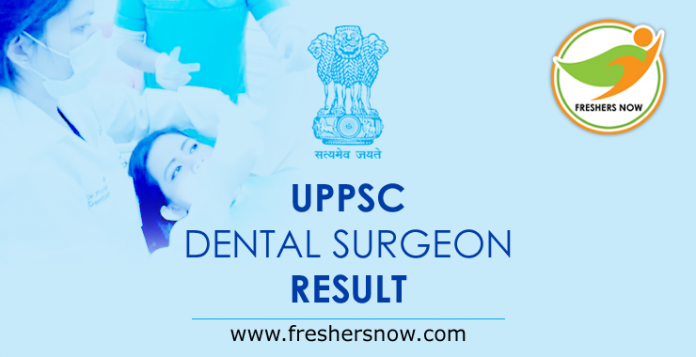 UPPSC Dental Surgeon Result 2019