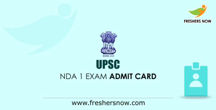 UPSC NDA 1 Exam Admit Card 2019