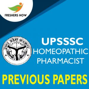 UPSSSC Homeopathic Pharmacist Previous Papers
