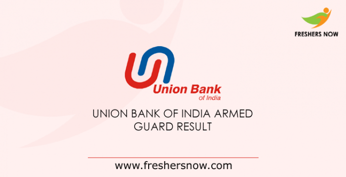 Union Bank of India Armed Guard Result 2019