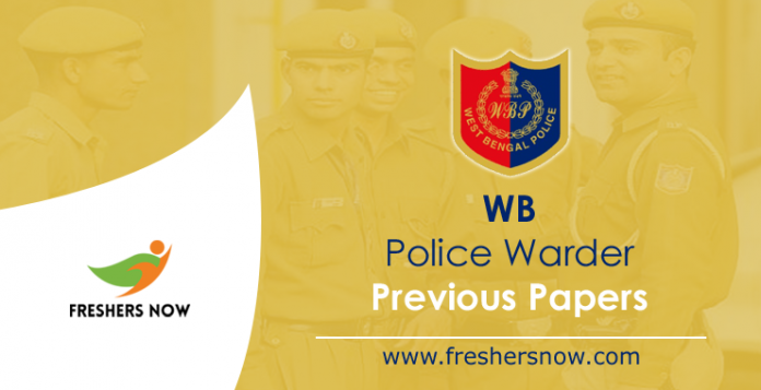 WB Police Warder/ Female Warder Previous Papers PDF Download