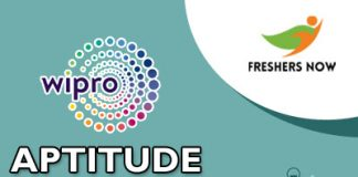 Wipro Aptitude Questions and Answers