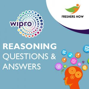 Wipro Reasoning Questions & Answers